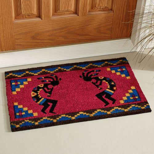 Kokopelli Coir Doormat Dark Red 30 x 18