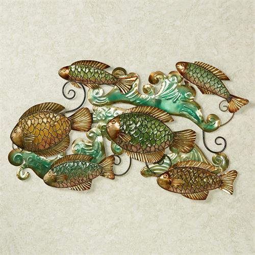 Beauty Beneath the Sea Fish Wall Art Multi Jewel