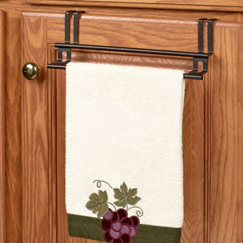Over The Cabinet Double Towel Bar Bronze