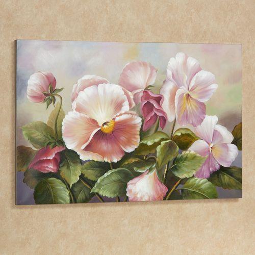 Plenty of Pansies Canvas Art Multi Pastel