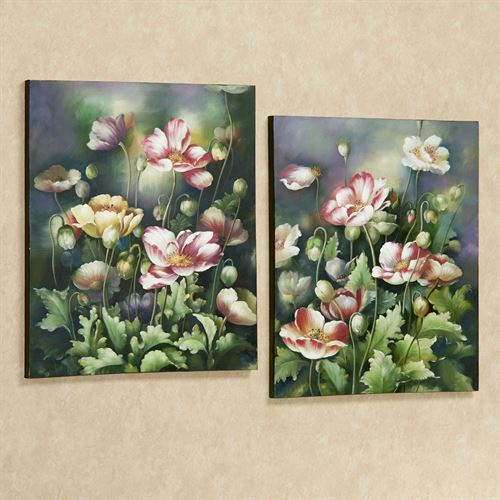 Blooming Vibrancy Canvas Art Multi Pastel Set of Two