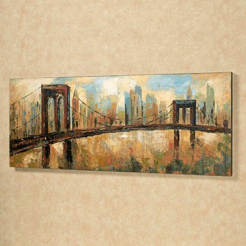 City Skyline Canvas Art Multi Earth