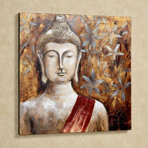 Enlightenment Buddha Canvas Art Multi Warm