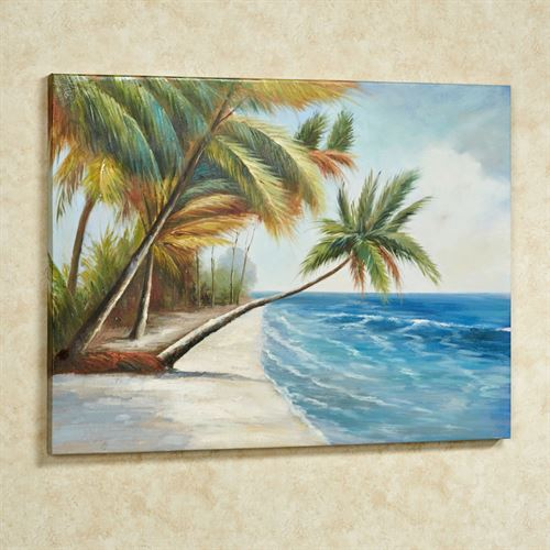 Leaning Palms Canvas Art Multi Cool