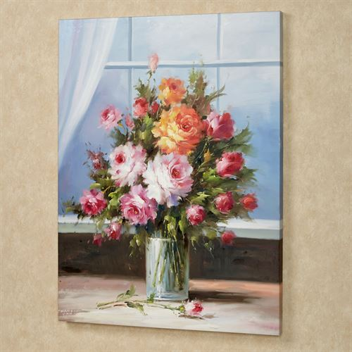 Romantic Blooms Canvas Art Multi Pastel