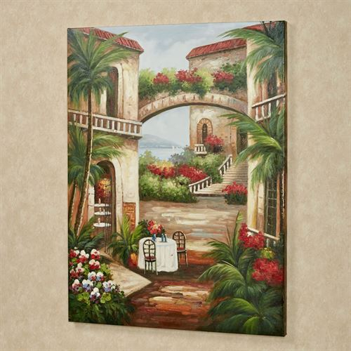 Romantic Afternoon Canvas Art Multi Earth