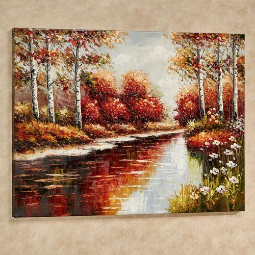 Autumn Afternoon Canvas Art Multi Warm