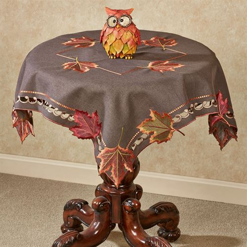 Falling Leaves Table Topper Brown 36 Square