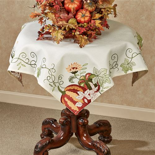 Harvest Vines Table Topper Cream 36 Square