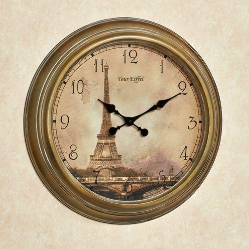 Monument de Paris Wall Clock Harvest Gold