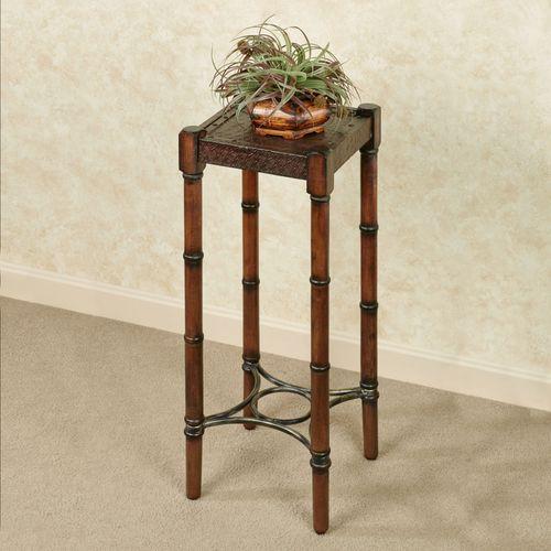 Treyton Square Pedestal Table Regal Walnut 28 High