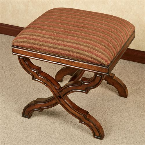 Illene Upholstered Stool Regal Walnut
