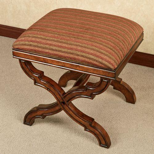Illene Upholstered Stool Regal Walnut