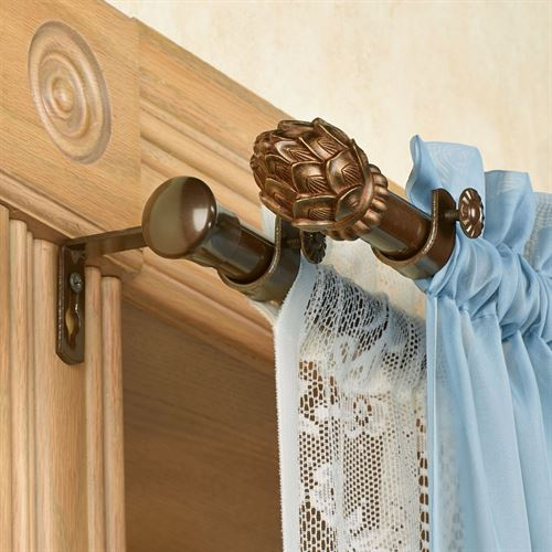 Bud Double Curtain Rod Set