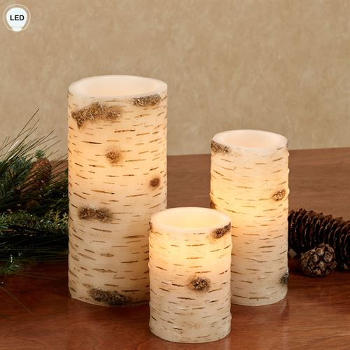 Ancient Roots LED Candles Brown Set of Three