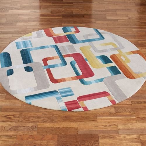Retro Modo Round Rug Multi Jewel
