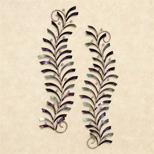 Natures Dance Metal Wall Art Purple Set of Two