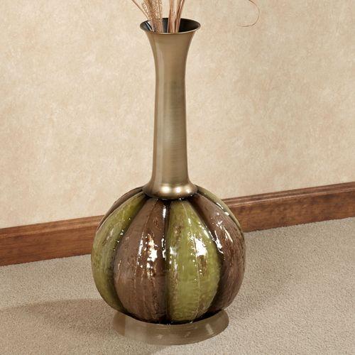 Eclipse Metal Floor Vase Champagne Gold