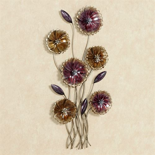 Charming Floral Metal Wall Art Gold