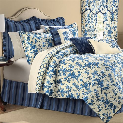 Spring Flowers Comforter Set Light Cream