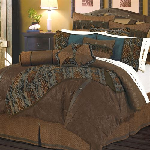 Del Rio Comforter Set Light Chocolate