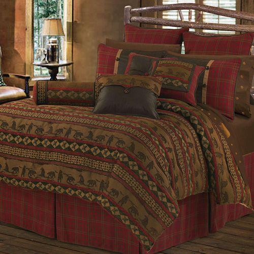Cascade Lodge Comforter Bed Set Brown