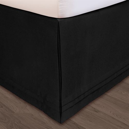 Hike Up Your Skirt(R) Tailored Bedskirt Black