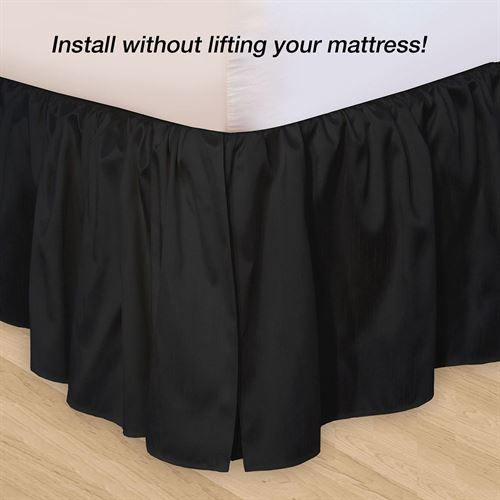 Hike Up Your Skirt(R) Ruffled Bedskirt Black