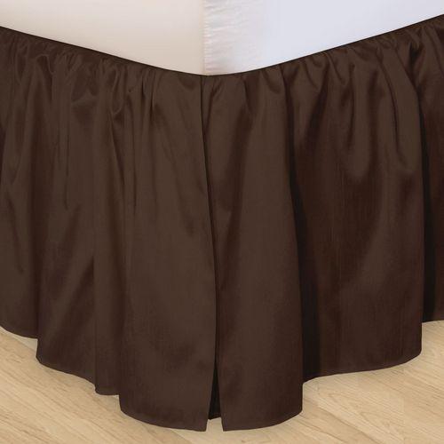 Hike Up Your Skirt(R) Ruffled Bedskirt Chocolate