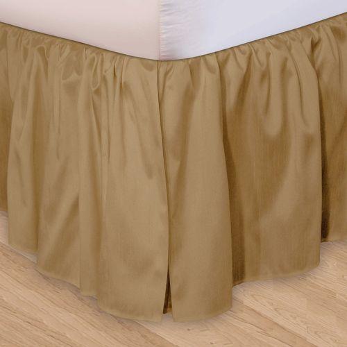 Hike Up Your Skirt(R) Ruffled Bedskirt Tan