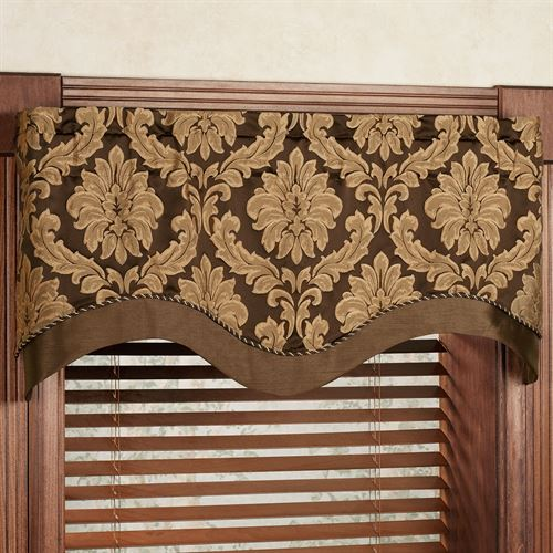 Darby Layered Scalloped Valance 50 x 17