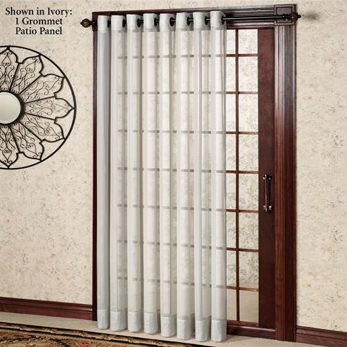 Oyster Bay Grommet Patio Panel 110 x 84