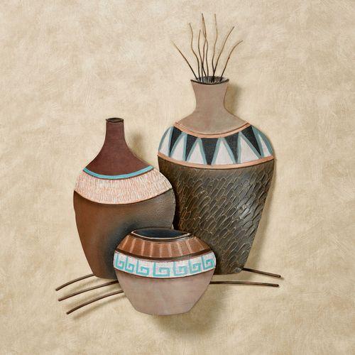 Clay Pots Trio Wall Art Multi Earth