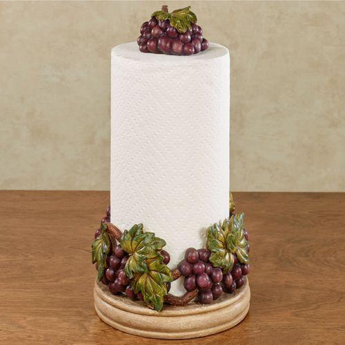 Grape Harvest Paper Towel Holder Sangria