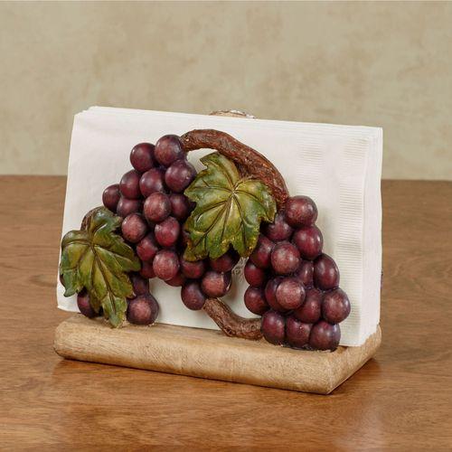 Grape Harvest Napkin Holder Sangria