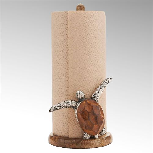 Sea Turtle Paper Towel Holder Brown
