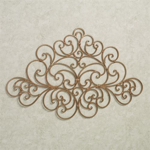 Camilio Scroll Wall Grille Satin Gold Small