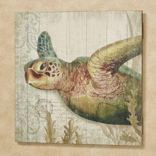 Sea Turtle II Wall Art Sign Multi Cool