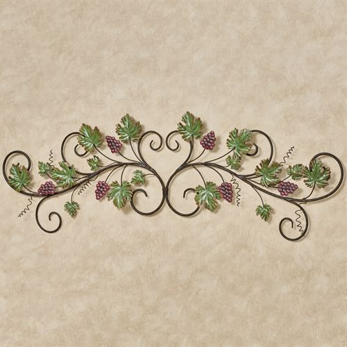 Vining Grapes Decorative Wall Topper Sangria