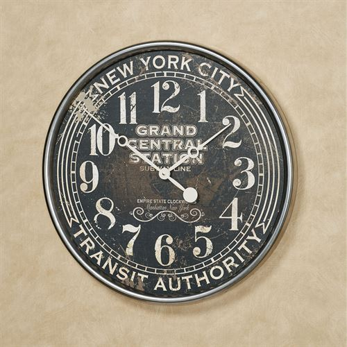 Subway Wall Clock Black