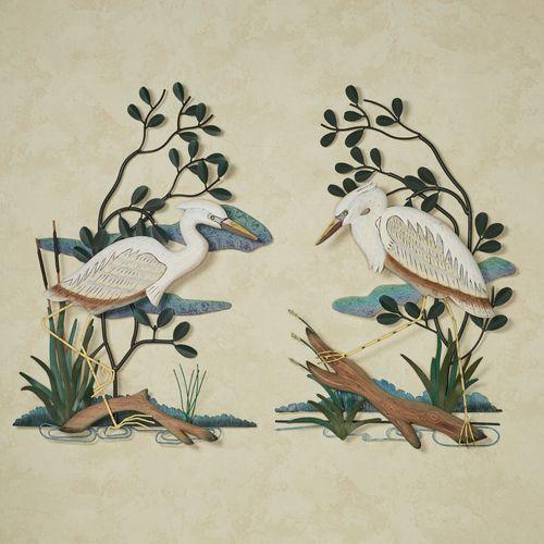 White Heron Wall Sculpture White