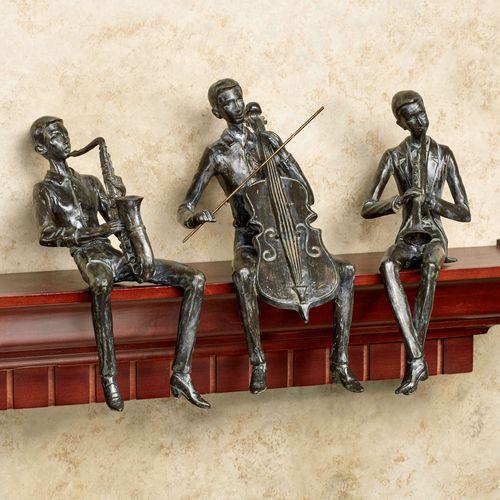 Urban Tunes Shelf Sitters Brown Set of Three