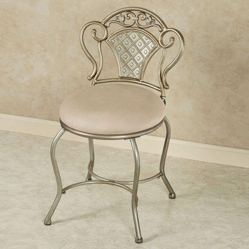 Claira Vanity Chair Platinum