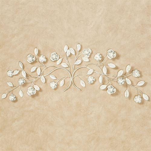 Charming Rose Wall Topper Ivory/Gold