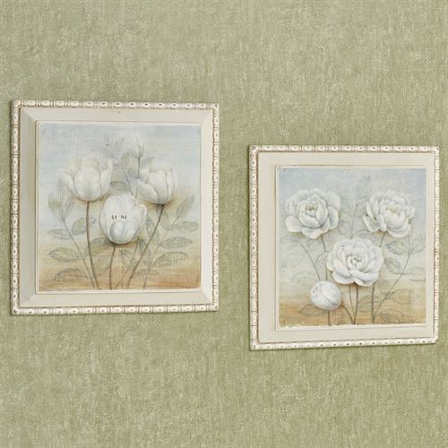 Sweet Blooms Wall Plaques Multi Cool Set of Two