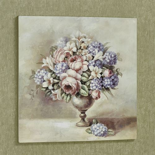 Spring Bouquet Floral Canvas Wall Art Multi Pastel