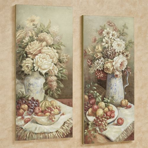 Natures Bounty Wall Plaques Multi Warm Set of Two