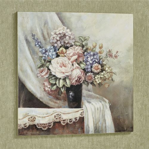 June Afternoon Floral Canvas Wall Art Multi Pastel