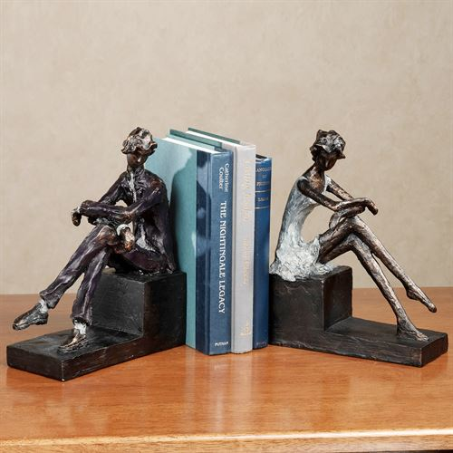 Contemplation Bookend PairBronzePair