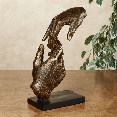 Loving Hands Table SculptureBronze